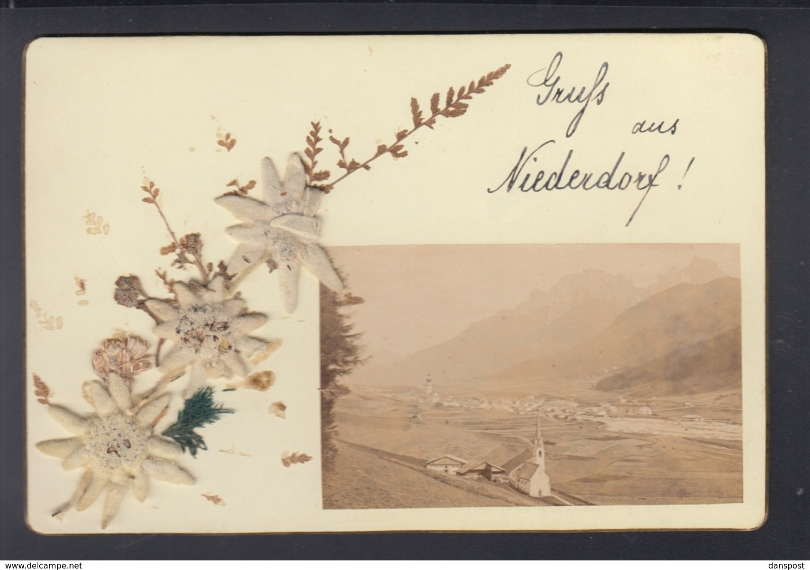 Cartolina Niederdorf 1895 - Italia