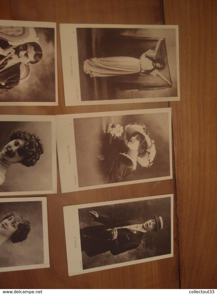 9 CPA Originales Anciennes Acteur Comédien Actrice Comédienne Mistinguet ... Cliché Félix - Artistes