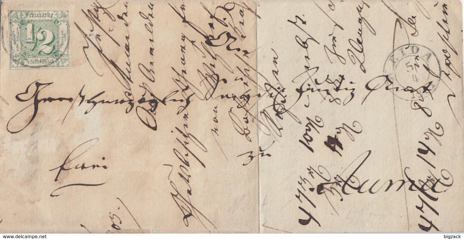 Thurn & Taxis Brief EF Minr.14 K2 Weida 5.4.1861 - Thurn Und Taxis