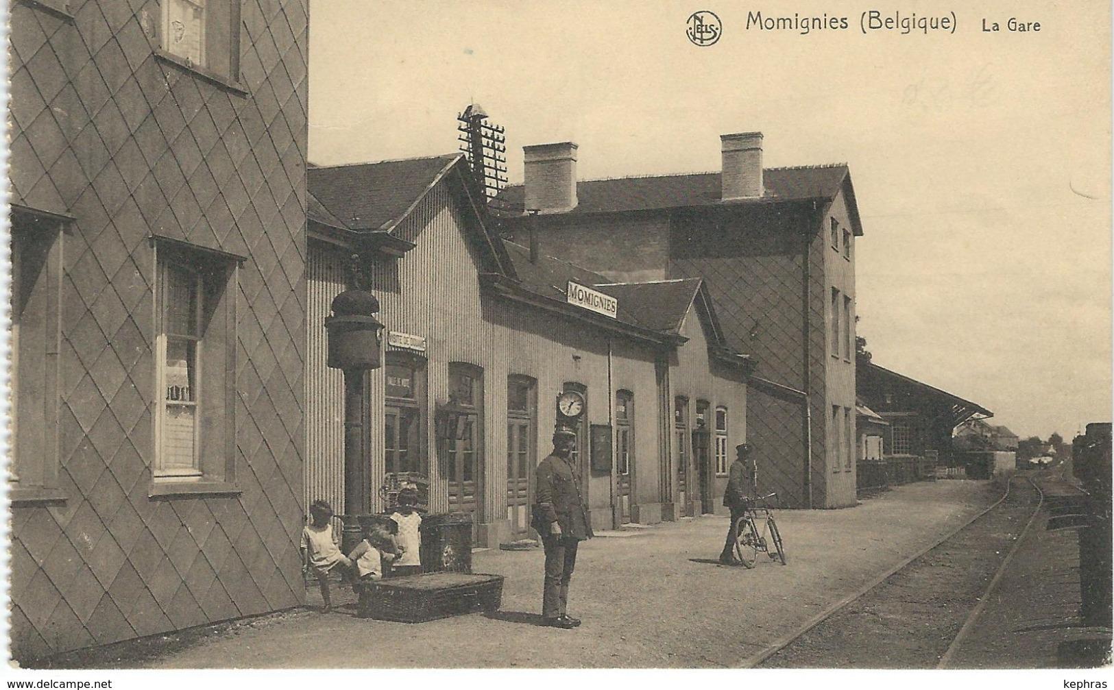MOMIGNIES : La Gare - Cachet De La Poste 1928 - Momignies