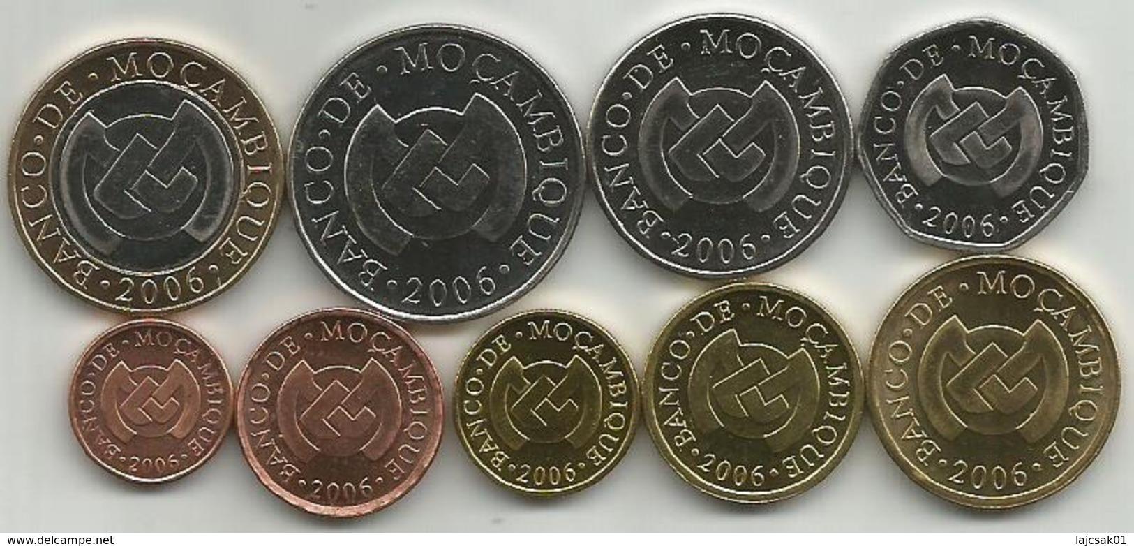 Mozambique 2006. Set Of 9 Coins : 1,5,10 ,20 ,50 Centavos, 1 ,2,5,10 Meticals UNC KM#132/140 - Mozambique