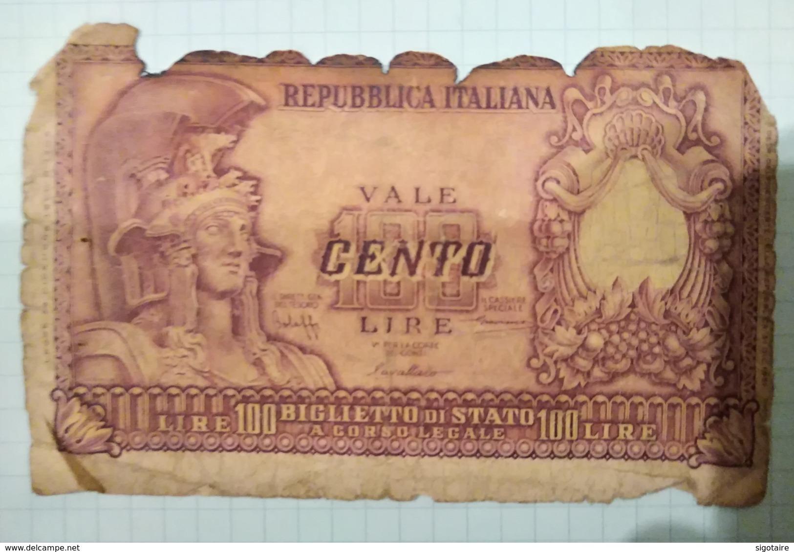 100 Livre - [ 2] 1946-… : Repubblica