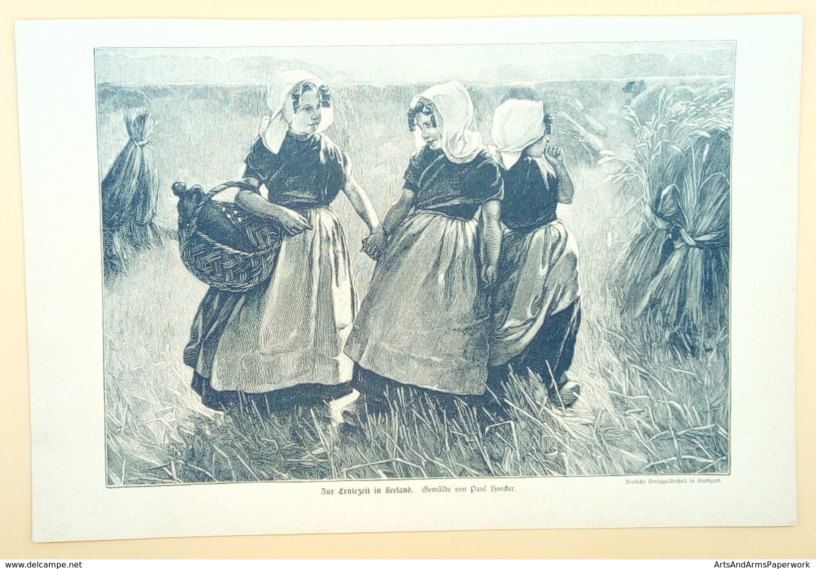 Genrelithografie: Hollandse Meiden - Lithografieën