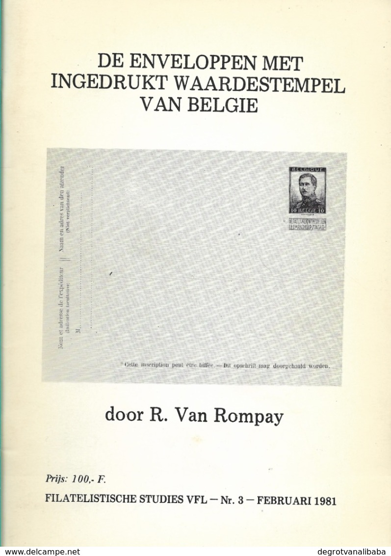 De Enveloppen Met Ingedrukt Waardestempel Van België - Annullamenti