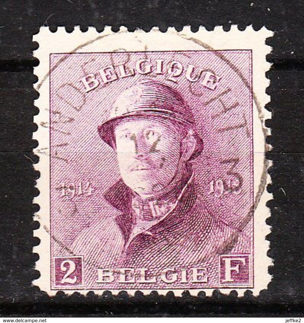 176  Roi Albert Casqué - LA Bonne Valeur - Oblit. Centrale ANDERLECHT 3 - LOOK!!!! - 1919-1920 Trench Helmet