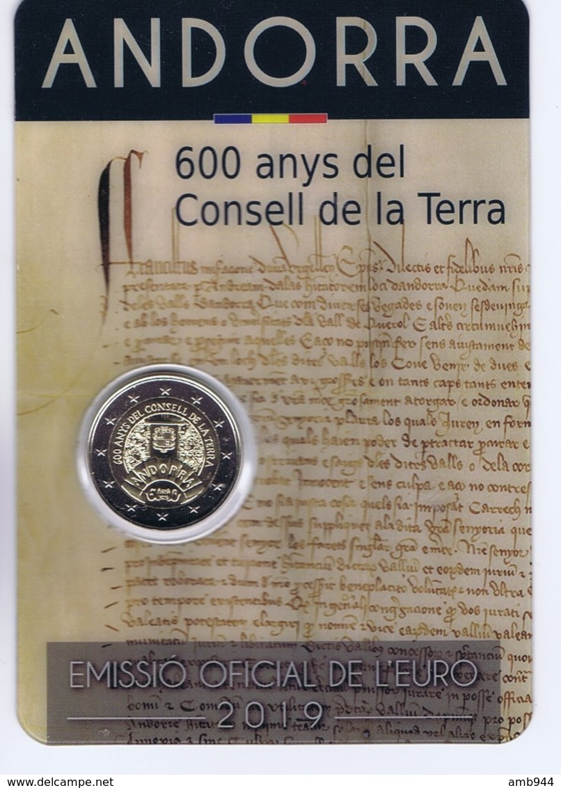 Andorra - 2 Euro Commemorativo 2019 In Confezione Originale - 600° Anniversario Del Consiglio Generale Di Andorra - Andorra