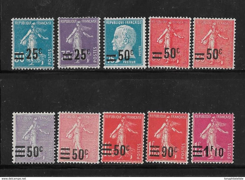 France Timbres De 1926/27 N°217 A 228 (sauf 222) Neufs ** Cote 30€ - Frankreich