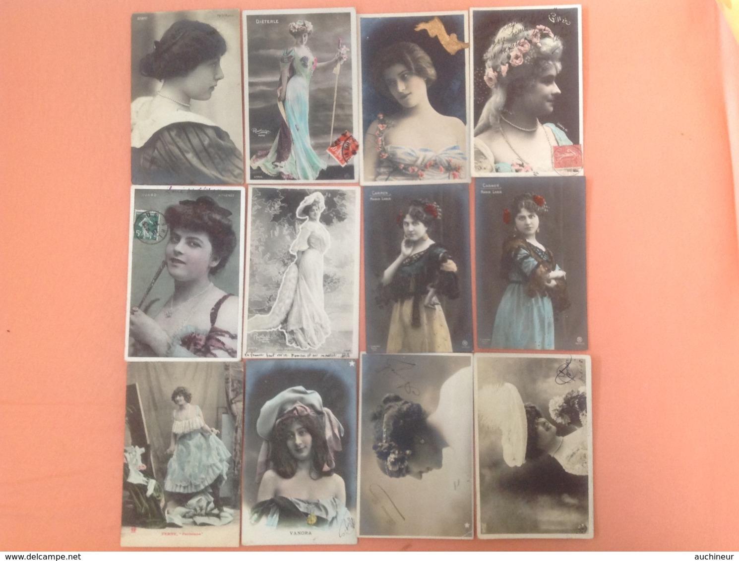 Artiste Femme Cabaret 1900 X 12 - Cabaret