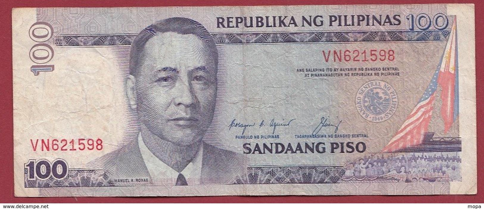 Philippines 100 Piso 1987 (Sign 12) Dans L 'état --(217) - Philippinen