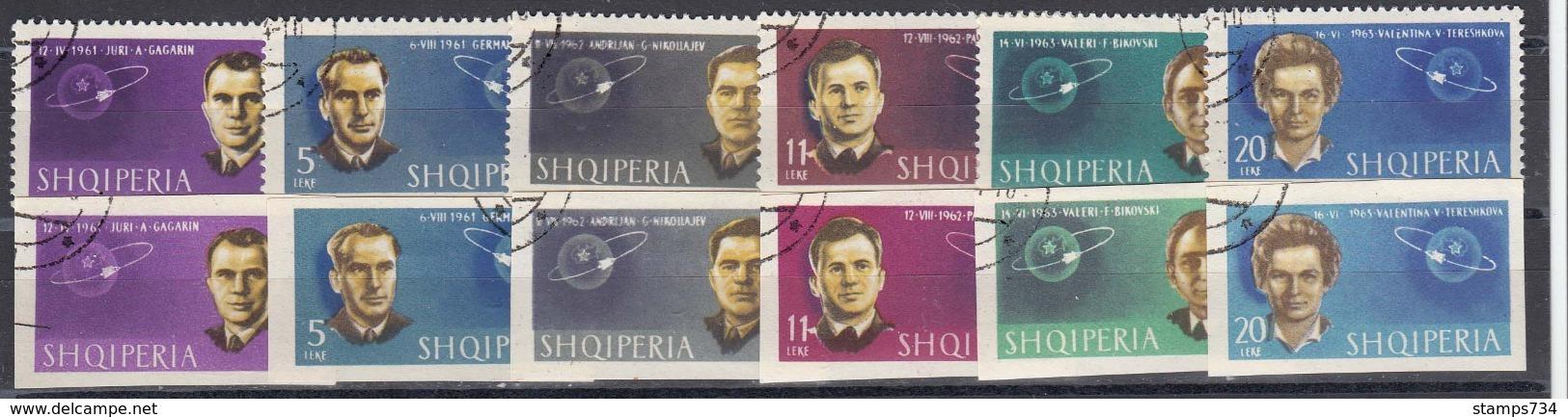 Albania 1963 - Soviet Cosmonauts, Mi-Nr. 757/62 A+B, Used - Albanie