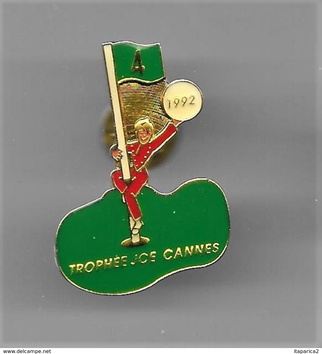 PINS GOLF Trophée JCE Cannes 1992 Trou N° 4 / Base Dorée /   33NAT - Golf