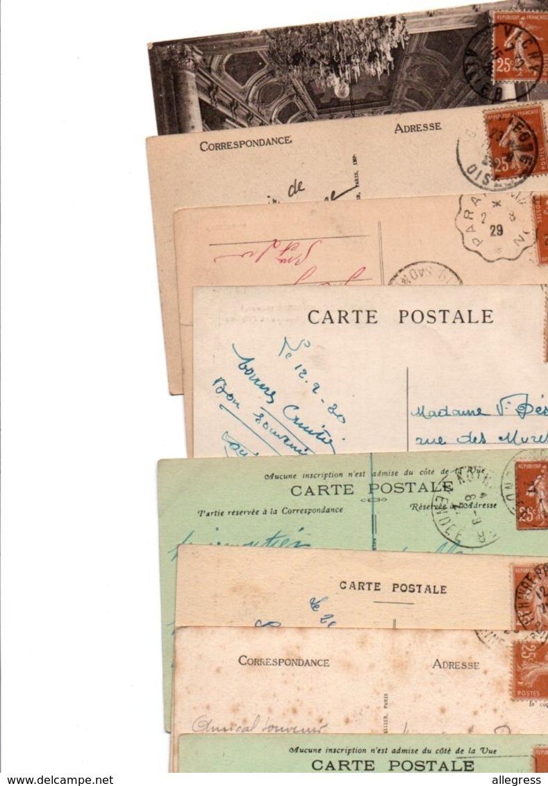 FRANCE...TIMBRE TYPE SEMEUSE CAMEE...25c JAUNE BRUN.......LOT DE 150 SUR CPA.......VOIR SCAN......LOT 4 - 1906-38 Säerin, Untergrund Glatt