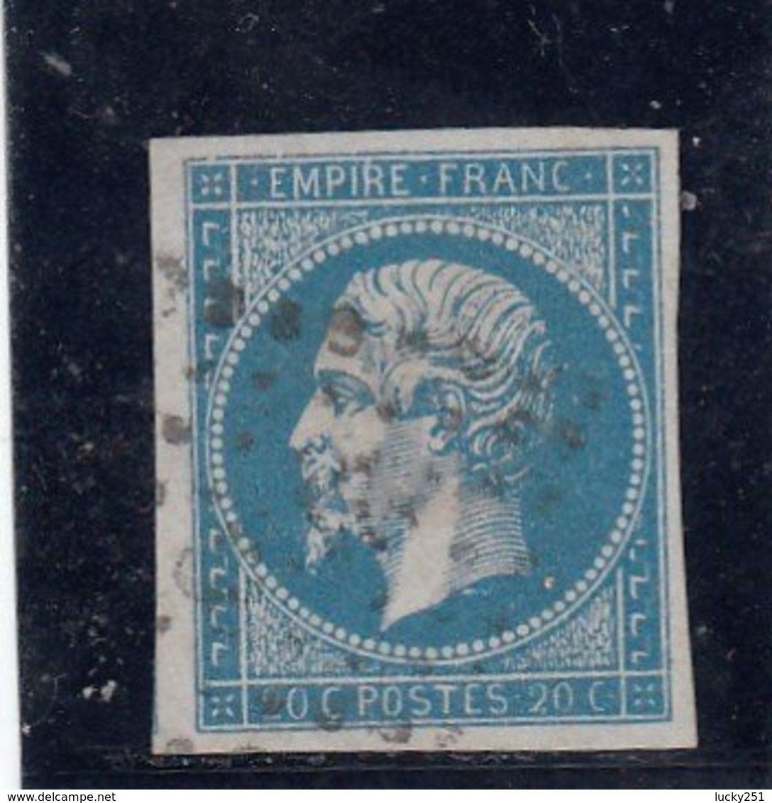 France - Napoléon III - N°Y.T 14A - 20c Bleu - Oblit. Losange - 1853-1860 Napoleone III