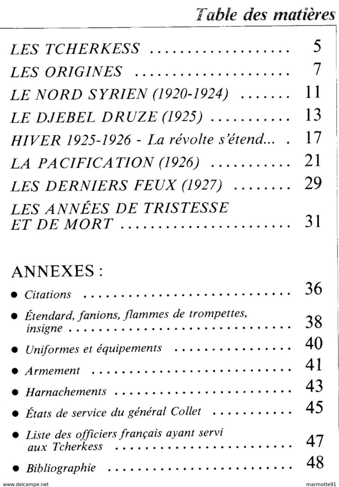 LES TCHERKESS CARNET SABRETACHE CAVALERIE LEVANT LIBAN SYRIE DJEBEL DRUZE - Bücher