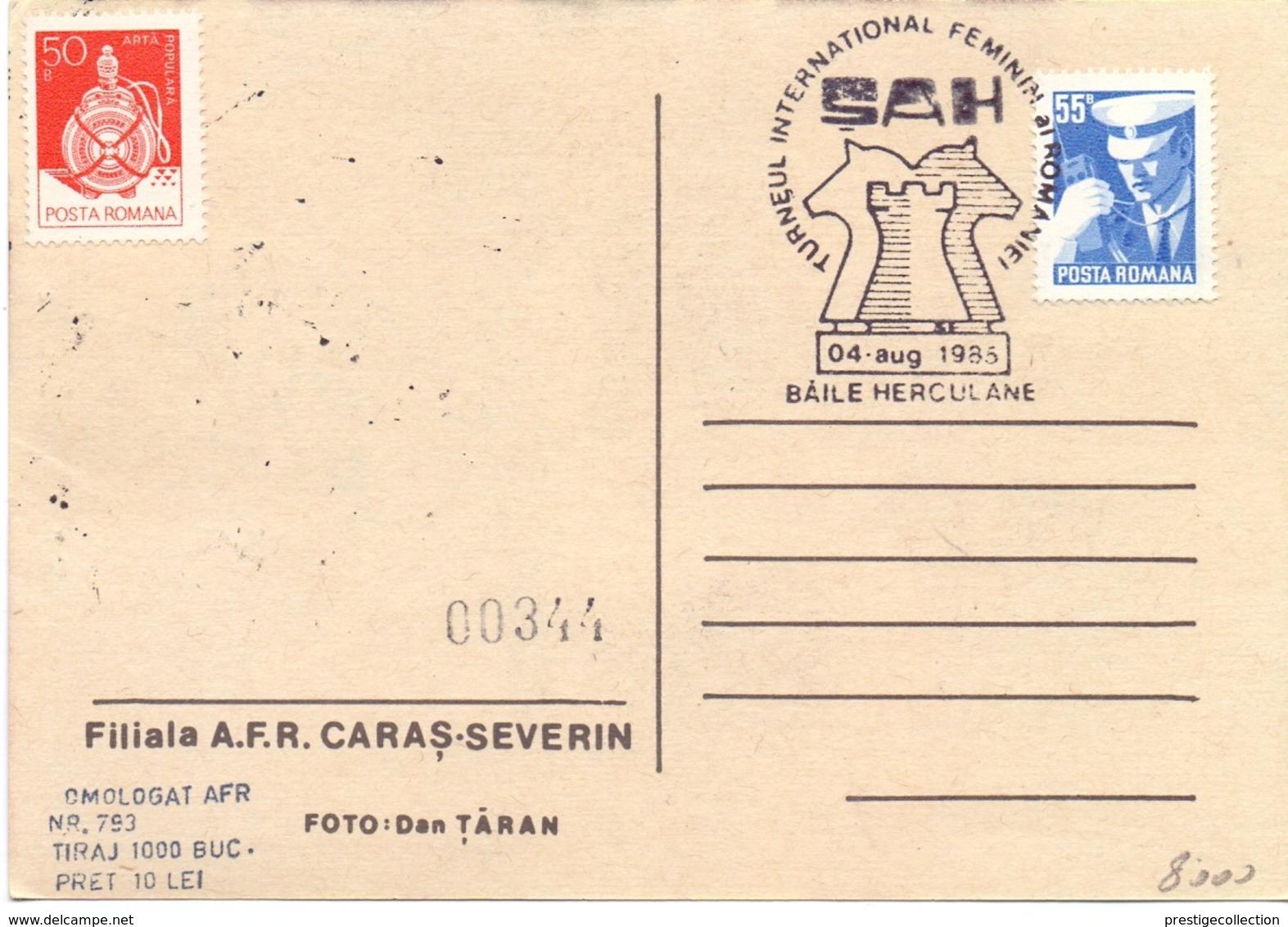 MAXIMUM 1985 CHESS ROMANIA (NOV190019) - Scacchi