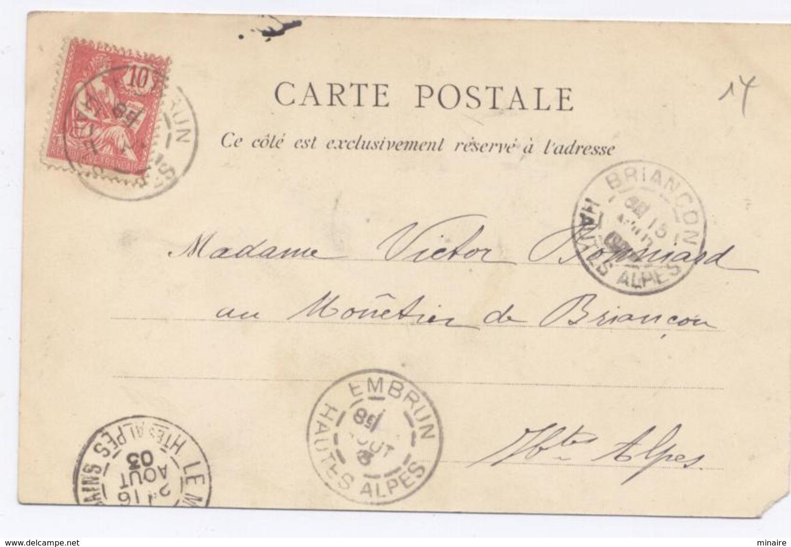 SAVINES Le Lac - Avenue De La Gare , 1903- Dos Simple - Autres Communes