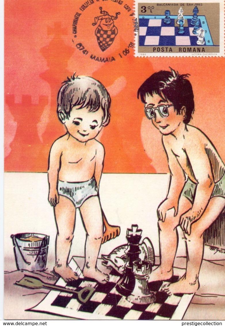 MAXIMUM 1991 CHESS ROMANIA (NOV190026) - Scacchi