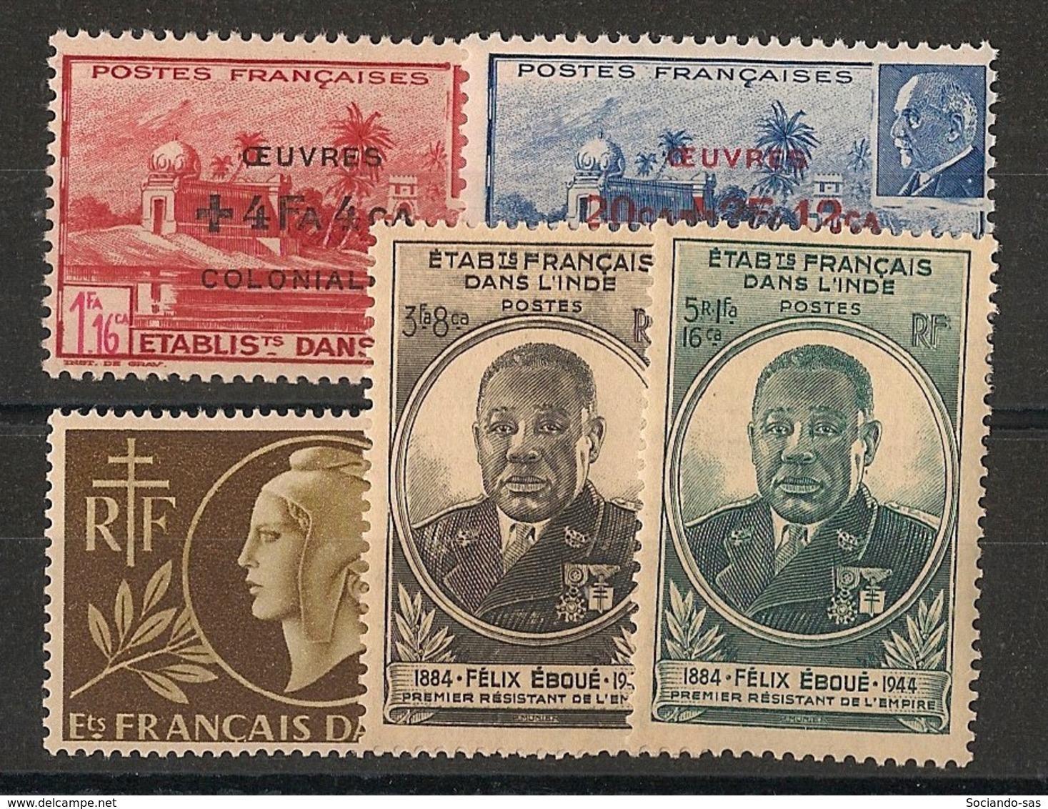 Inde - 1944-45 - N°Yv. 231 à 235 - Complet - 5 Valeurs - Neuf Luxe ** / MNH / Postfrisch - Ungebraucht