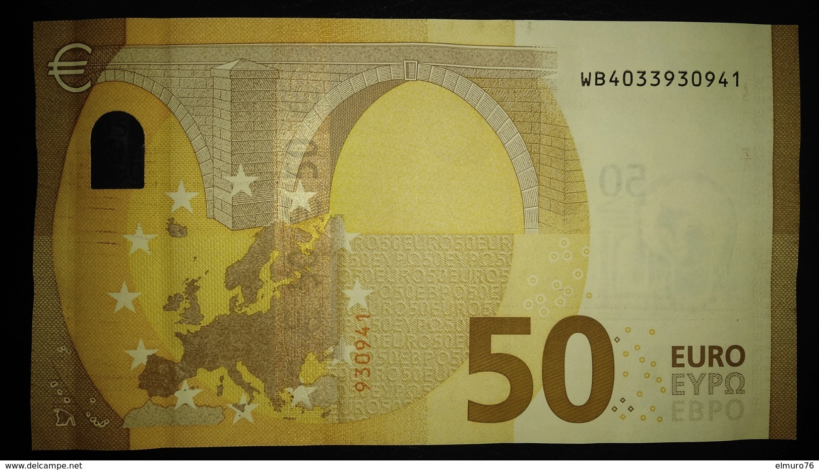 50 EURO W014D4 DRAGHI Germany Serie WB Perfect UNC - EURO
