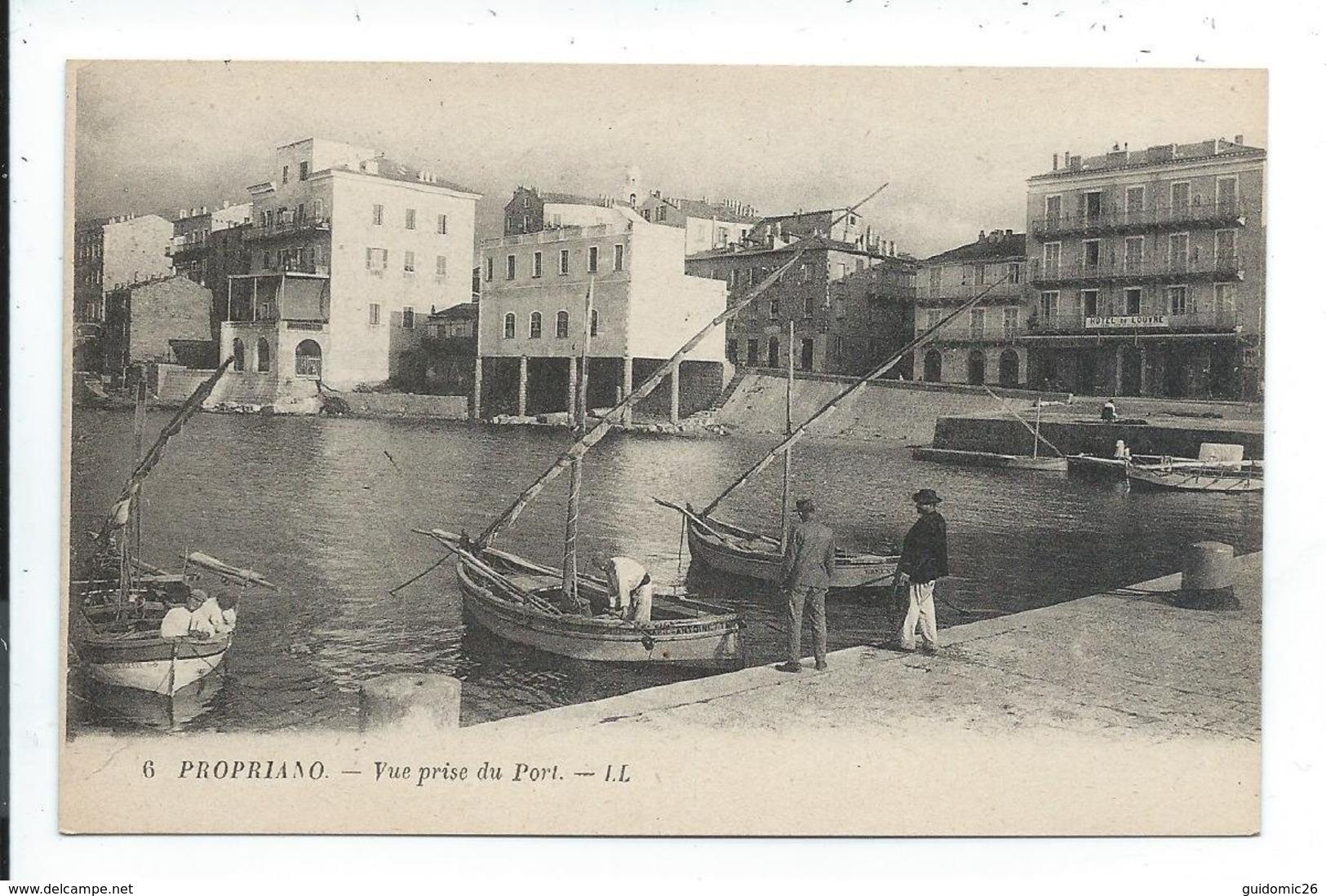 Propriano Vue Prise Du Port - France