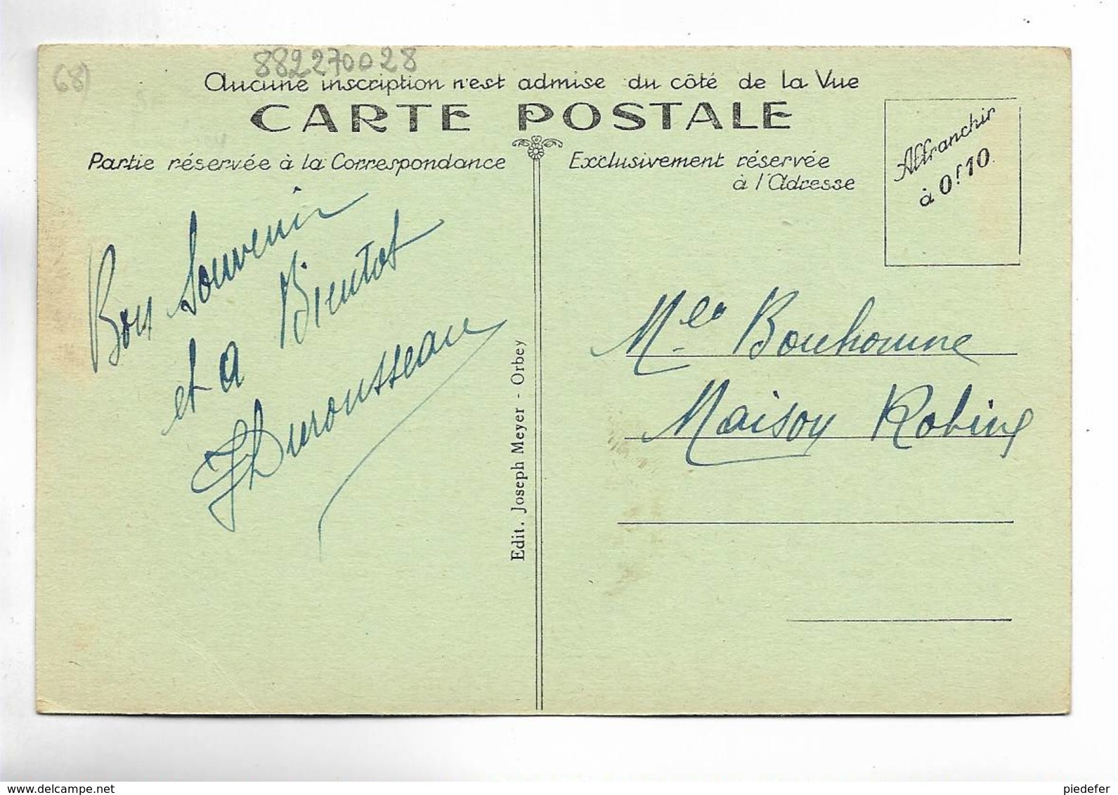 68 - ORBEY ( Hte-Alsace ) - La Pierre Du Loup - Personnages - Orbey