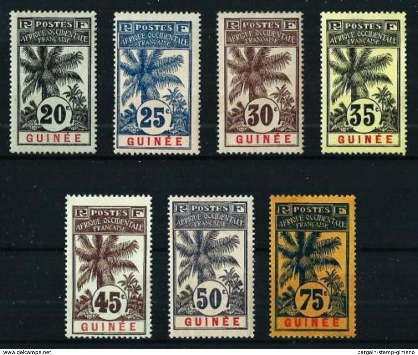 Guinea (Francesa) Nº 38/44 Nuevo* Cat.62,40€ - Guinea Francesa (1892-1944)