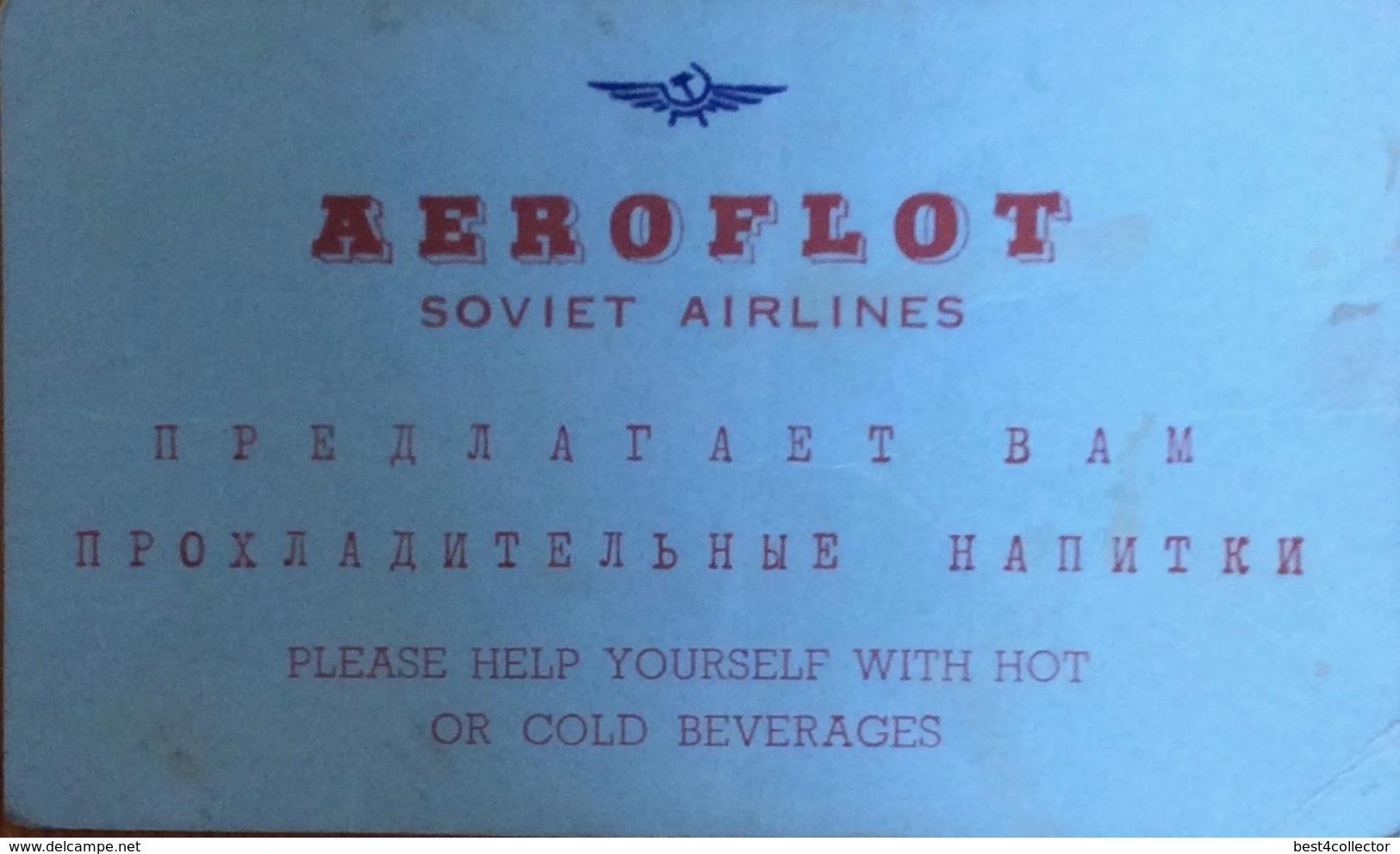 Aeroflot Soviet Airlines - Transportation Tickets