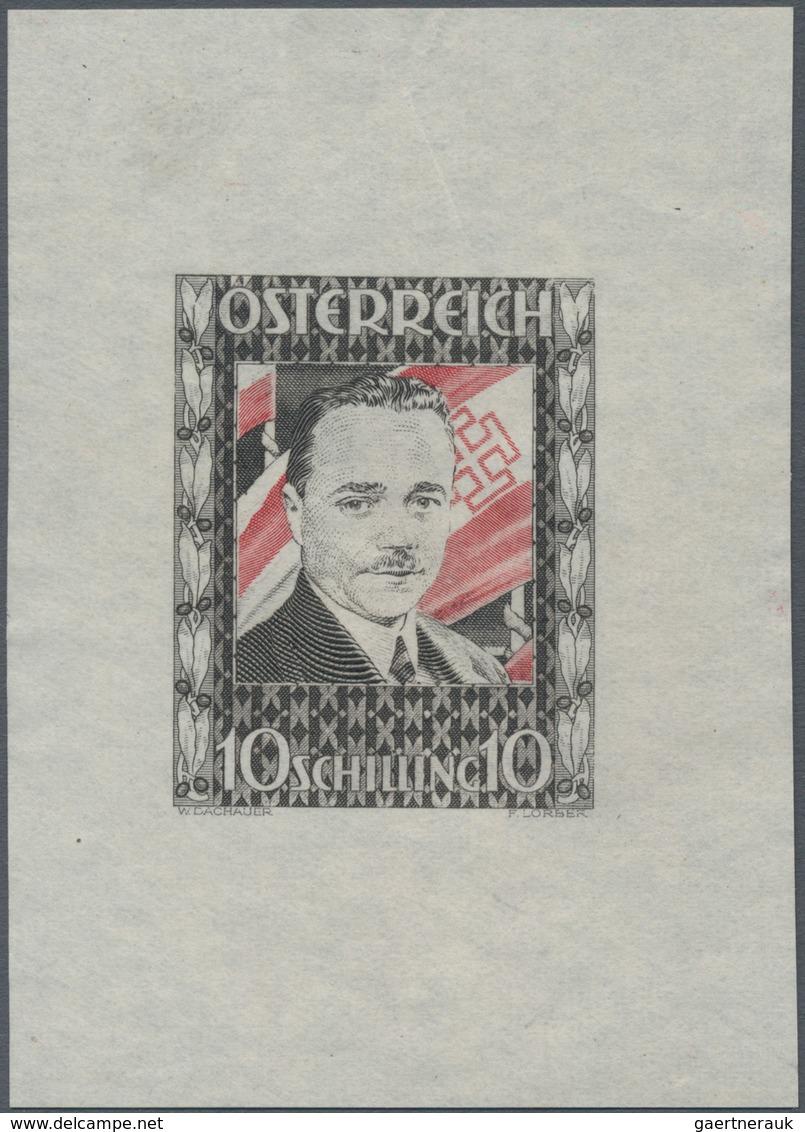 """Österreich: 1936, 10 Schilling Freimarke """"Bundeskanzler Dr. Engelbert Dollfuß"""". Diese Marke Wurde Im - 1850-1918 Empire"""