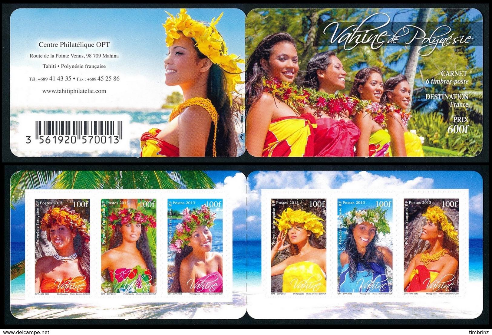 POLYNESIE 2013 - Yv. 1035 à 1040 = Carnet C1035 **  - Vahinées (6 Val.) Autoadhésif  ..Réf.POL24950 - Französisch-Polynesien