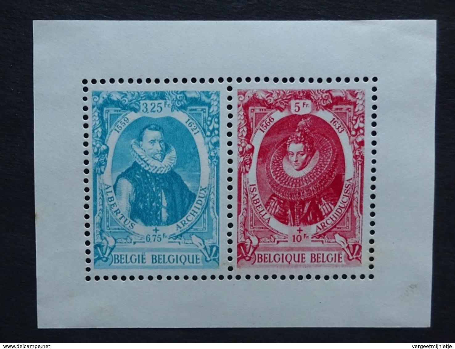 BELGIE  1942   Blok 17  Albrecht En Isabella     Postfris **     CW 15,00 - Blocs 1924-1960