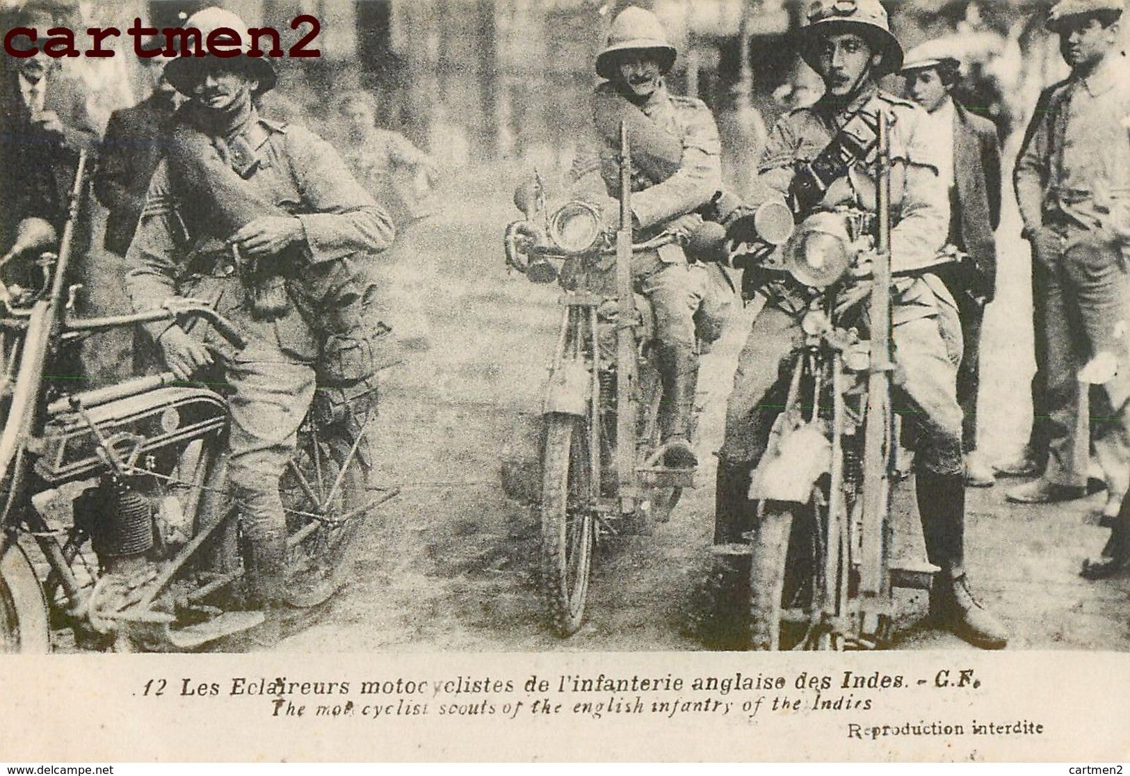 ECLAIREURS MOTOCYCLISTES IINFANTERIE ANGLAISE DES INDES INFANTERY INDIES INDE INDIA MOTO GUERRE - Motos