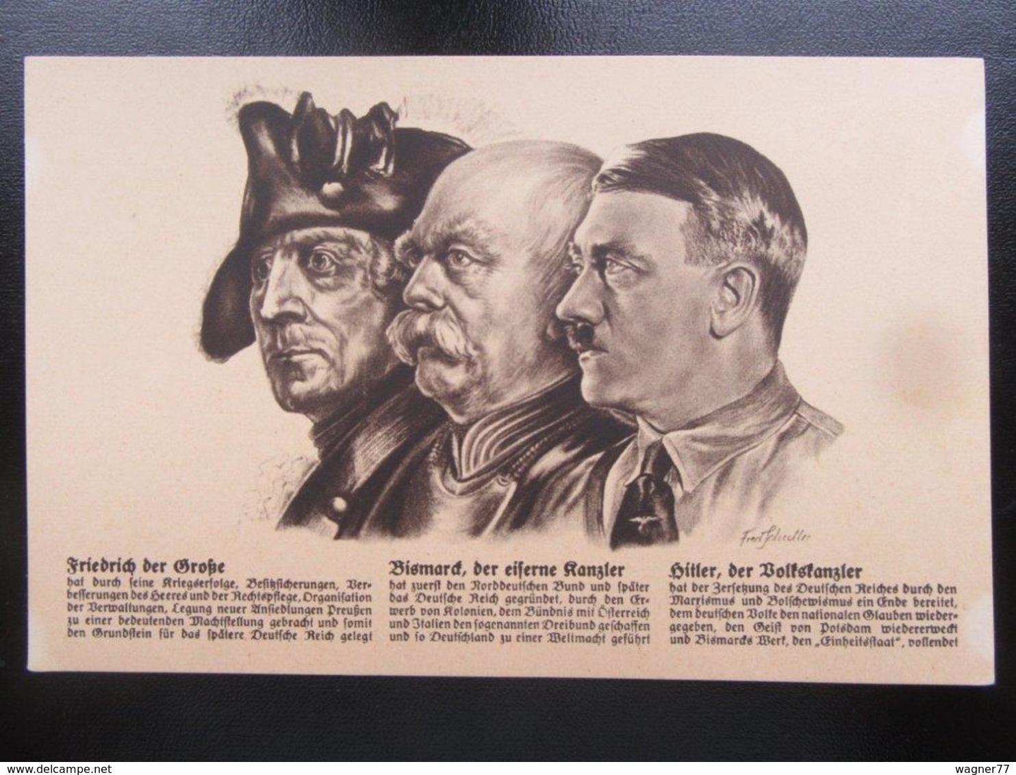 Postkarte Propaganda Fritz Otto Und Adolf - Allemagne