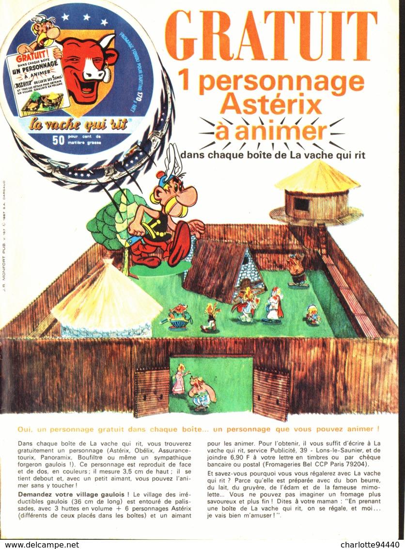 """PUB """" VACHE QUI RIT """"  Et  """" ASTERIX Et OBELIX  """"   1967 ( 3 ) - Astérix"""