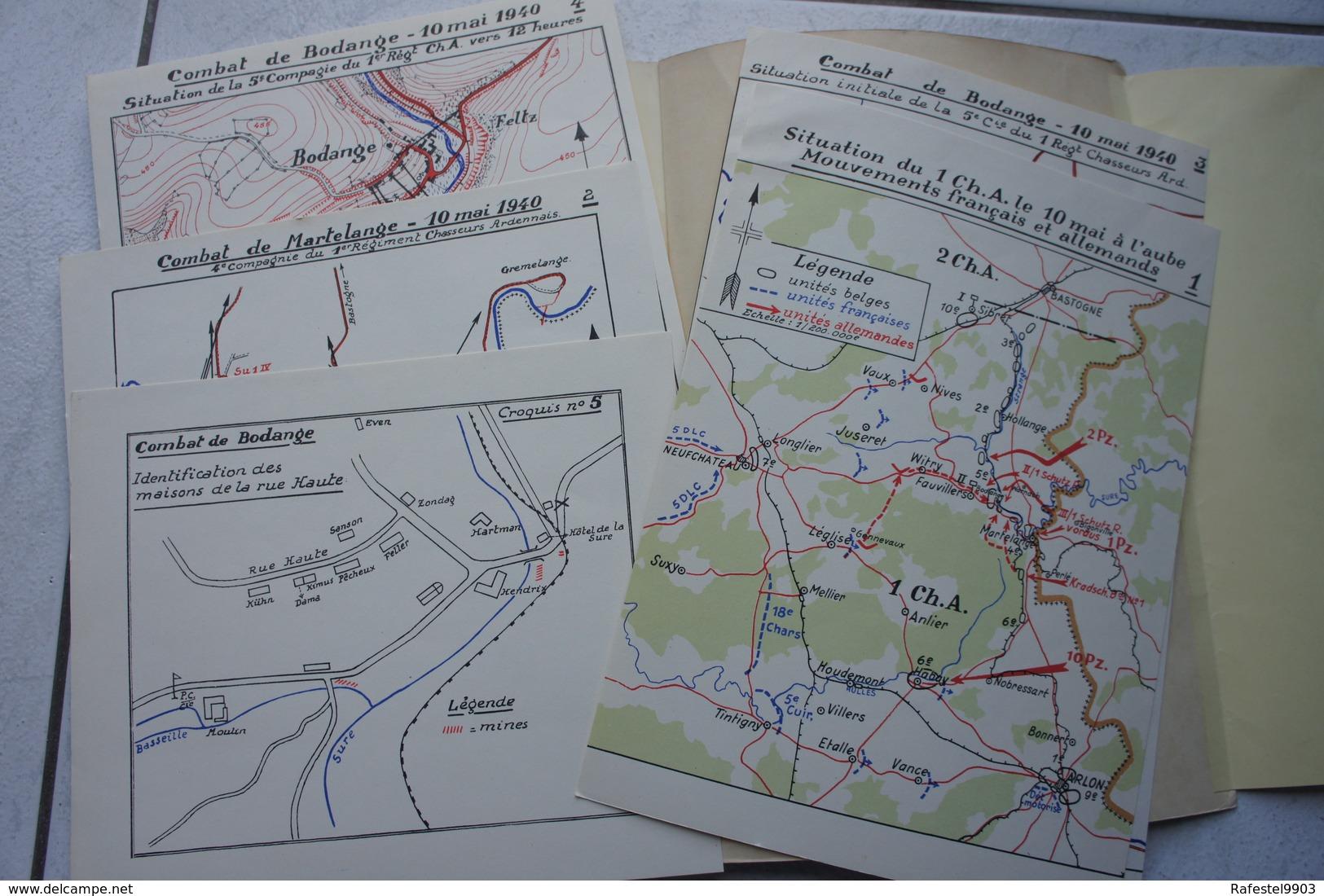 Livre Le Combat De BODANGE Mai 1940 Ardenne Chasseurs Ardennais Luxembourg Guerre Belgische Leger Militaria - Livres, BD, Revues