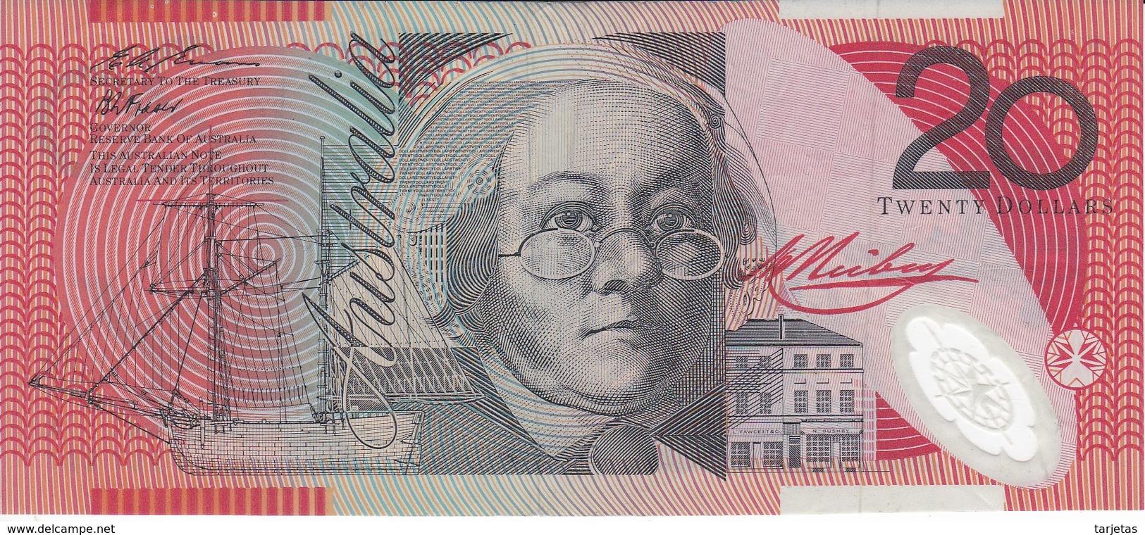 BILLETE DE AUSTRALIA DE 20 DOLLARS DEL AÑO 1994 CALIDAD MBC (VF)  (BANKNOTE) - Emisiones Gubernamentales Decimales 1966-...