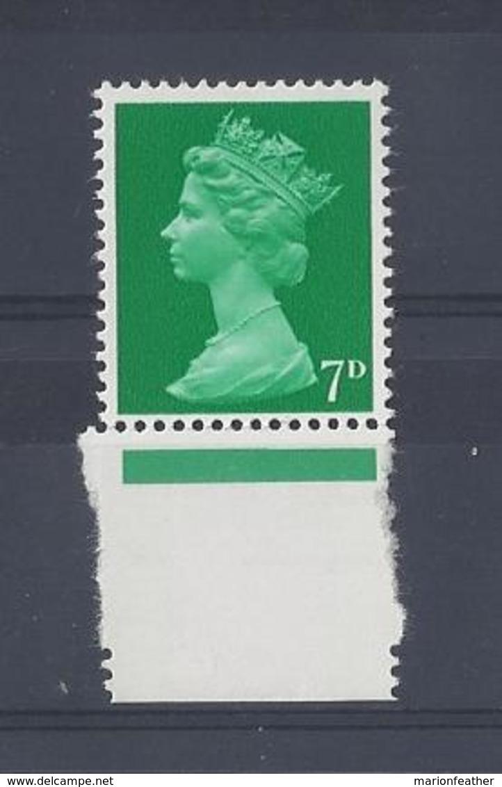 """GB..QUEEN ELIZABETH II.(1952-NOW)..."""" MACHINS.."""".......7d....SG737....MARGINAL.......MNH... - 1952-.... (Elizabeth II)"""