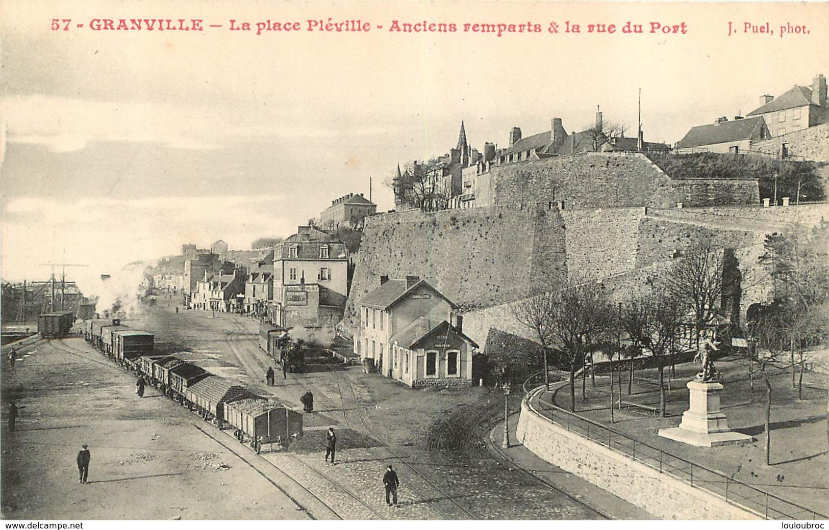GRANVILLE LA PLACE PLEVILLE ANCIENS REMPARTS ET RUE DU PORT - Granville