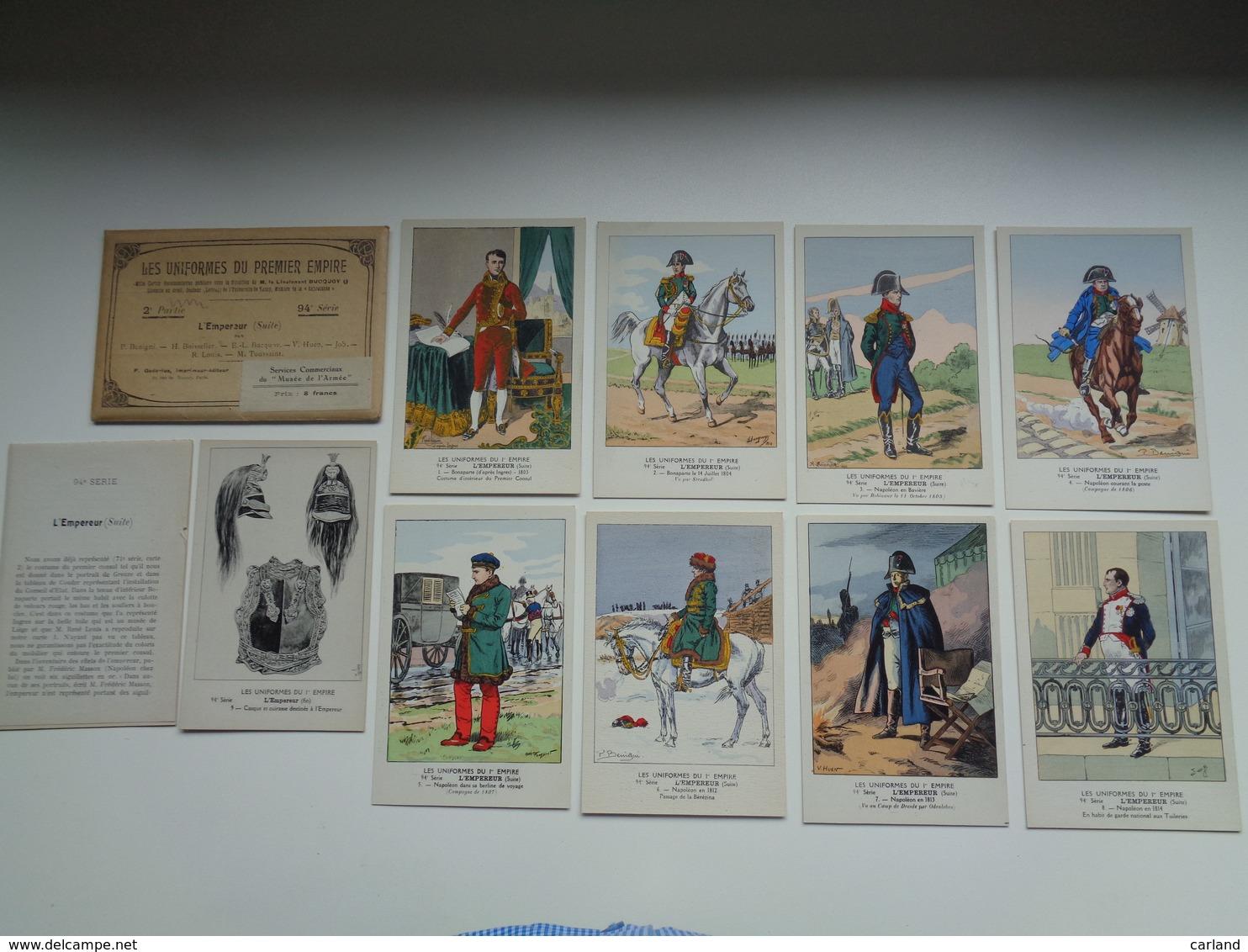 Beau Lot De 9 Cartes Postales + Pochette De Fantaisie : Les Uniformes Du Premier Empire - Illustrateur - Napoleon - 5 - 99 Postkaarten