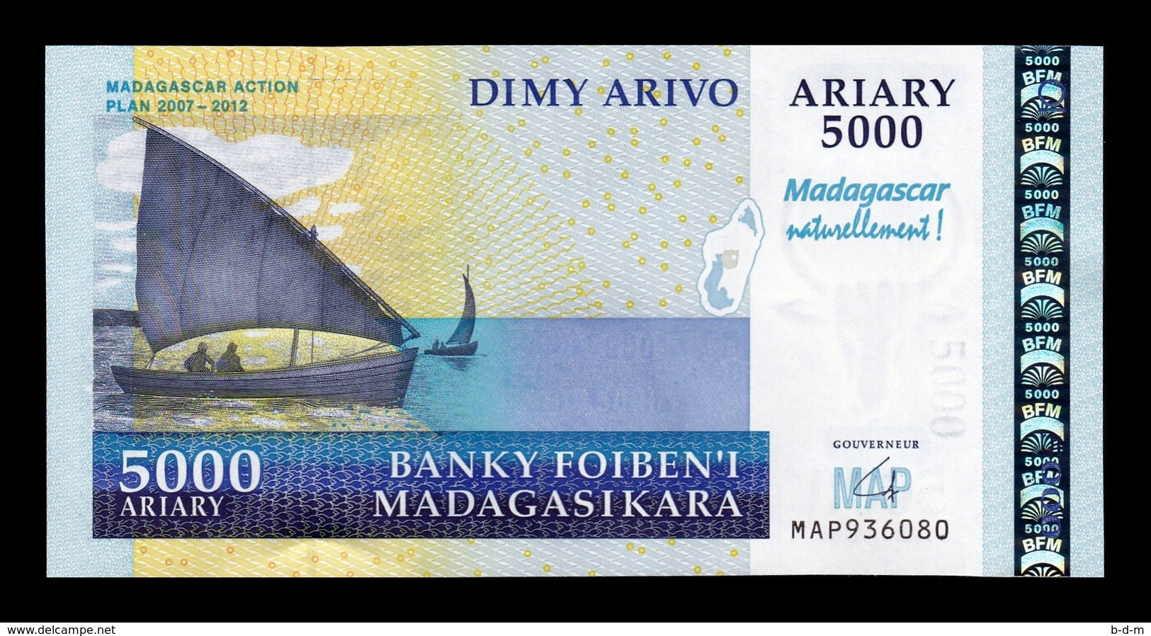 Madagascar 5000 Ariary Comm. MAP 2008 Pick 94 SC UNC - Madagascar