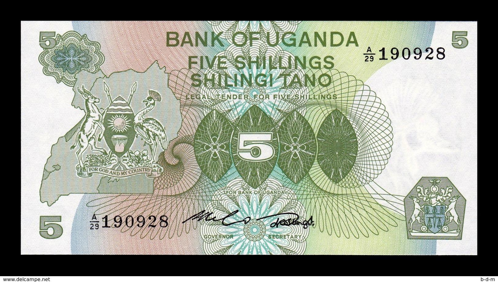Uganda 5 Shillings 1982 Pick 15 SC UNC - Uganda