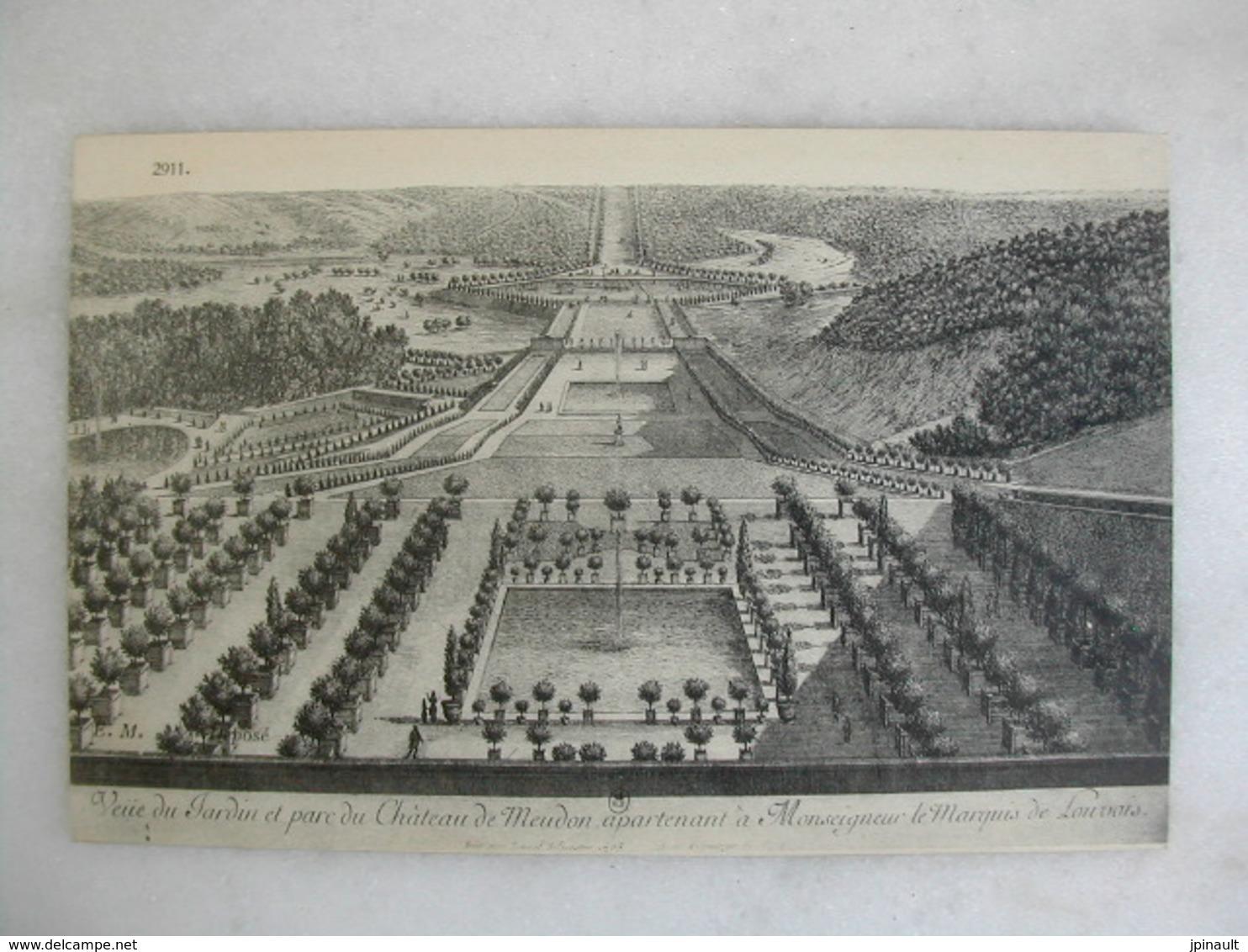Veüe Du Jardin Et Parc Du Château De MEUDON Apartenant à Monseigneur Le Marquis De Louvois - Meudon