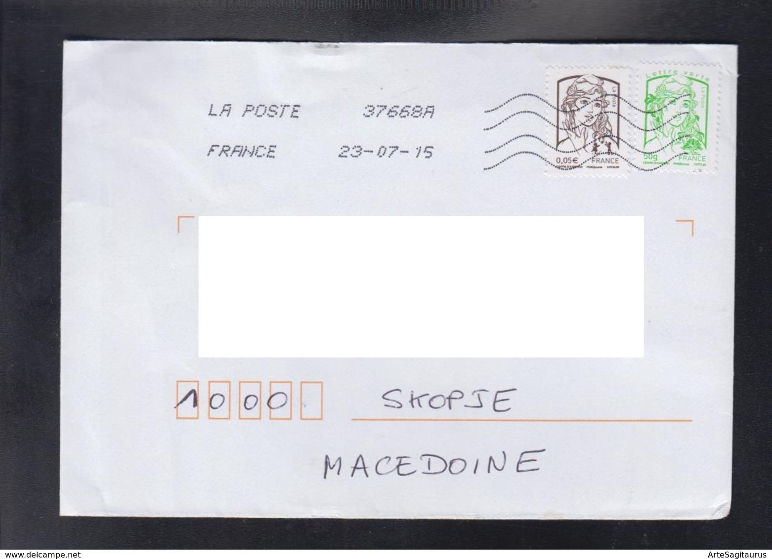 FRANCE, COVER / REPUBLIC OF MACEDONIA ** - 2013-... Marianne De Ciappa-Kawena