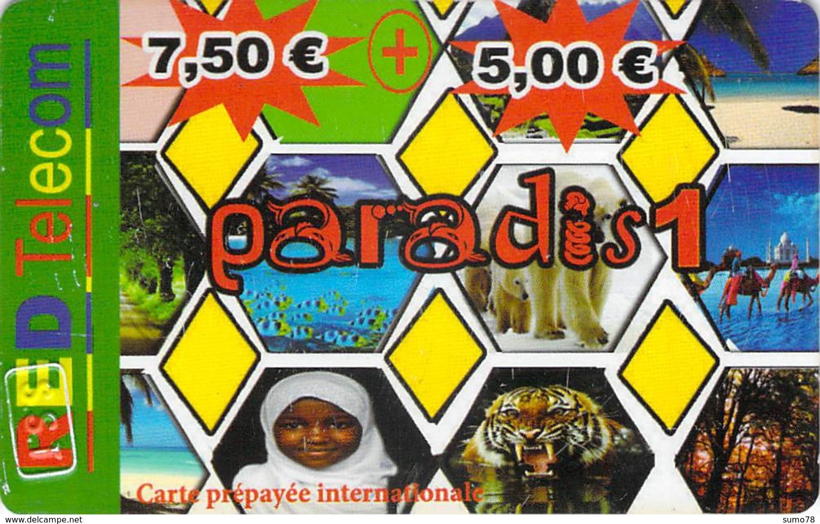 Carte Prépayée - RED TELECOM PARADIS 1 - Frankrijk
