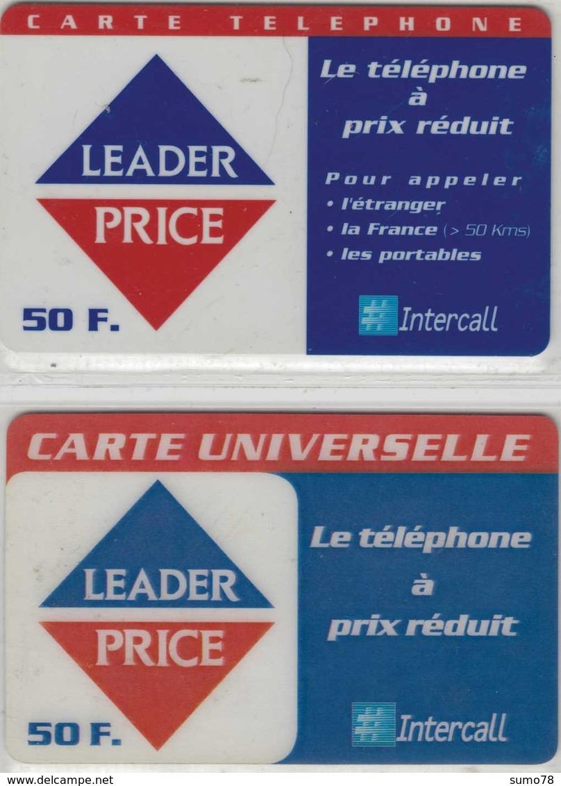 Carte Prépayée - Lot De 2 Cartes Différentes - INTERCALL - LEADER PRICE - Andere Voorafbetaalde Kaarten