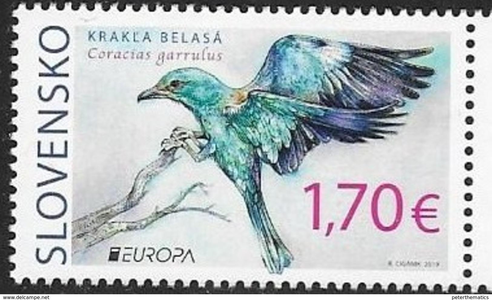 SLOVAKIA, 2019, MNH, EUROPA, BIRDS, 1v - 2019