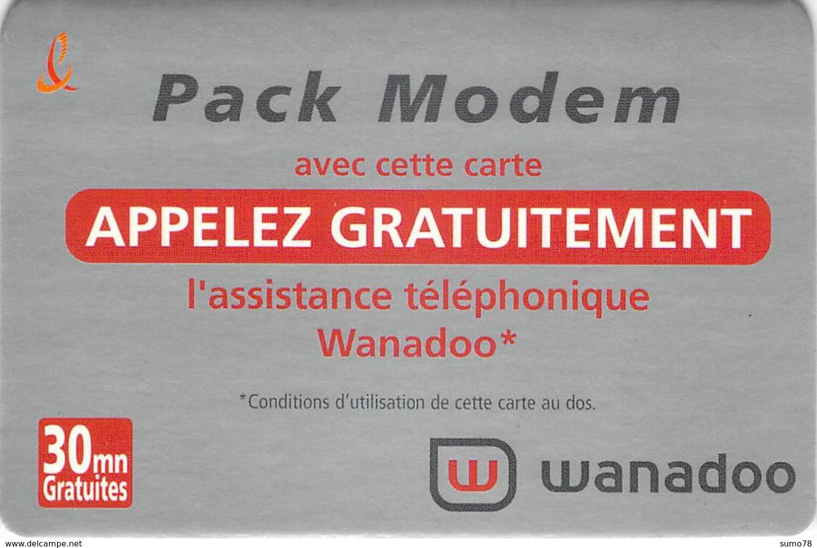 Carte Prépayée - WANADOO - FRANCE TELECOM - Andere Voorafbetaalde Kaarten