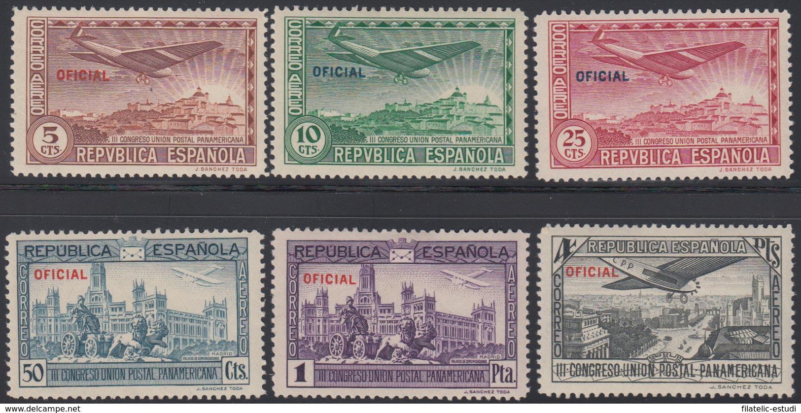 España Spain 630/35 1931 Panamericana Correo Aéreo MNH - Spagna