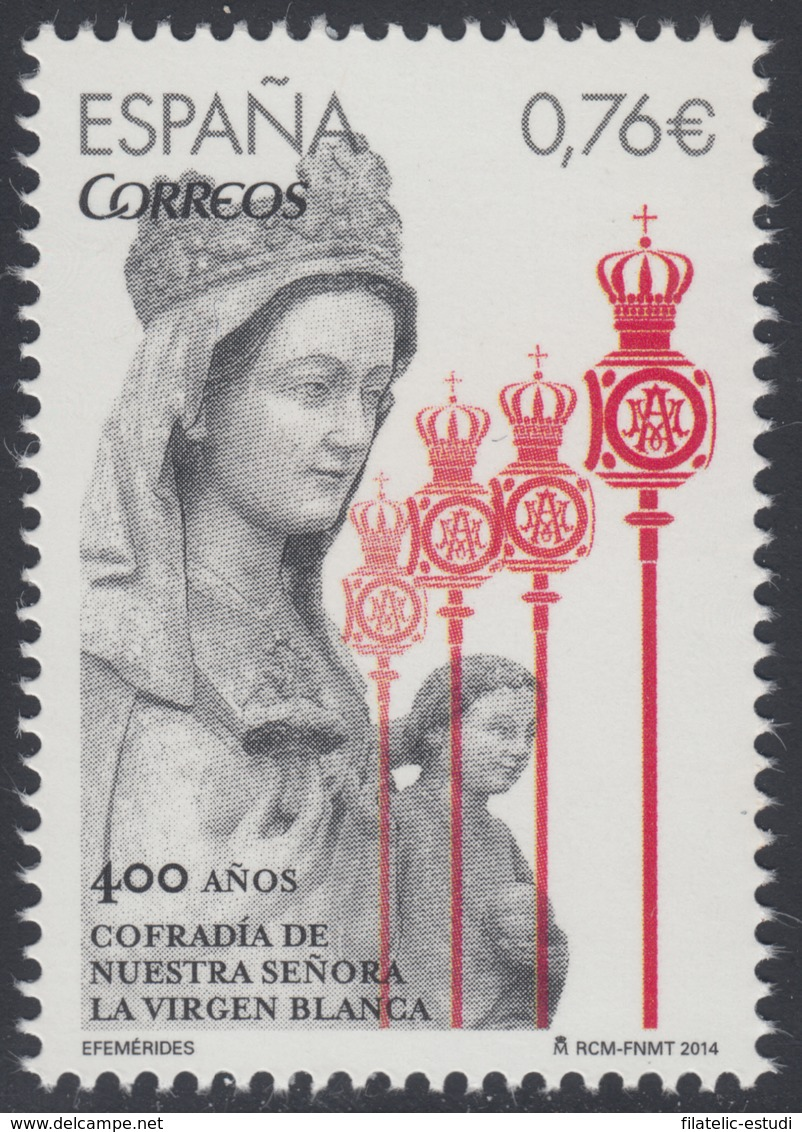 España Spain 4903 2014 Cofradía Virgen Blanca Religion MNH - Spagna