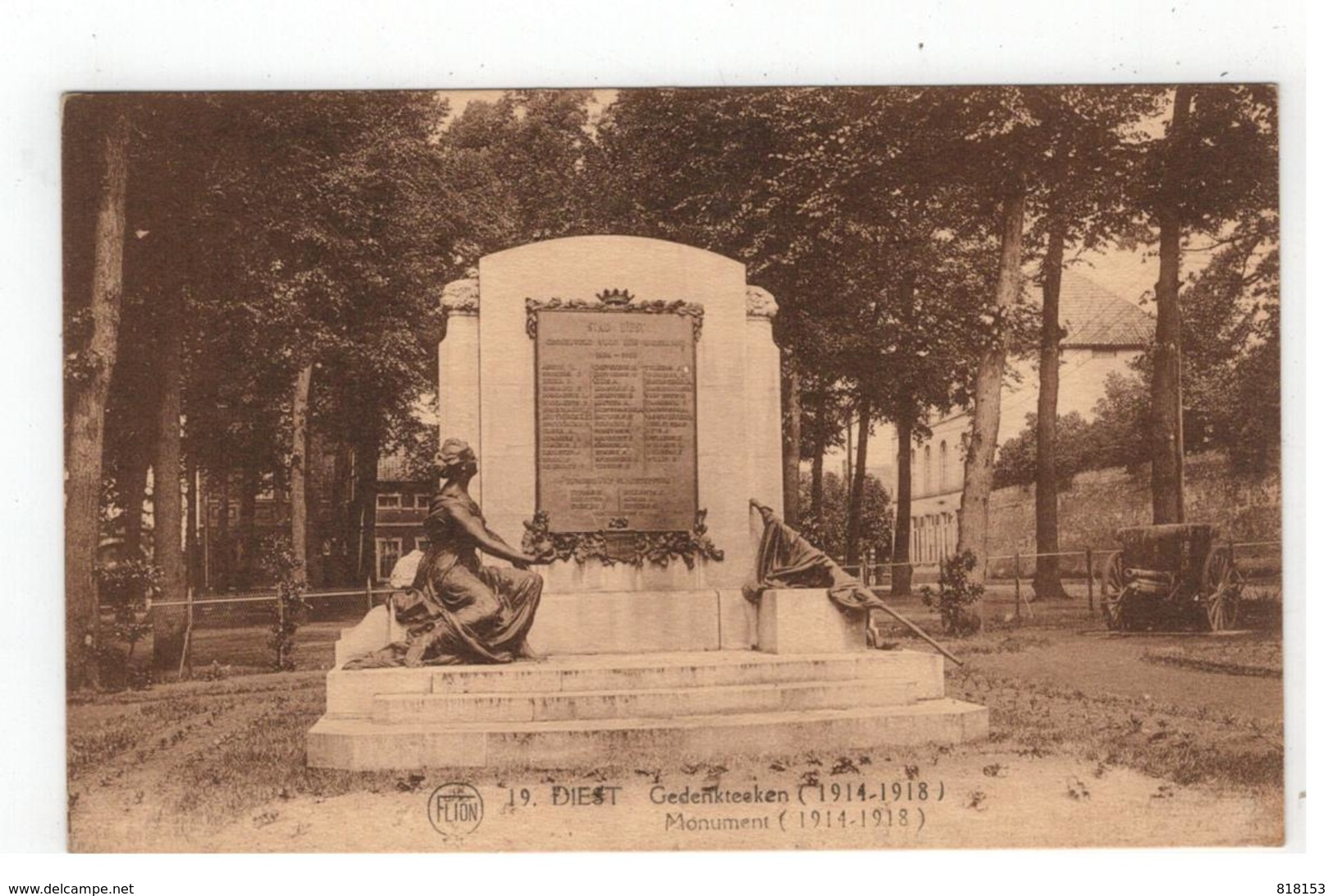 19.DIEST  Gedenkteeken (1914-1918) Monument FLION - Diest
