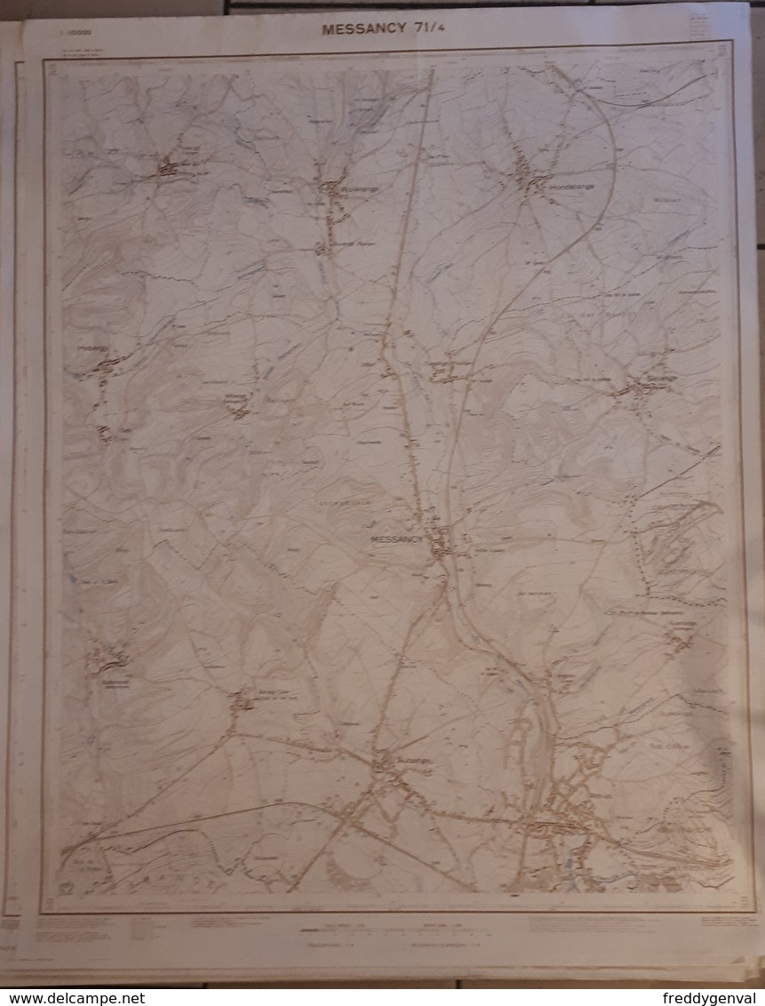 MESSANCY CARTE AU 1/10.000  71/4 - Autres Collections